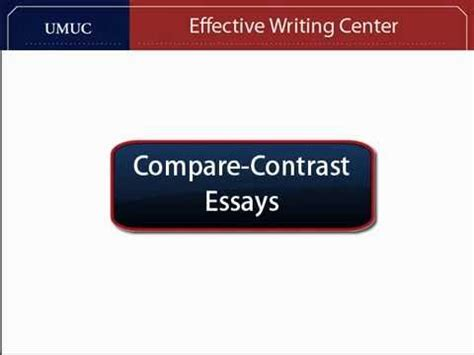 How to Write a Compare and Contrast Essay AcademicHelpnet